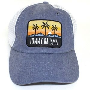 f31930b9e64217 Tommy Bahama Accessories - Tommy Bahama Hat Blue with White Mesh NWT